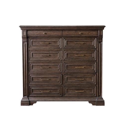 Pulaski Furniture - Bedford Heights 12 Drawer Master Chest in Estate Brown