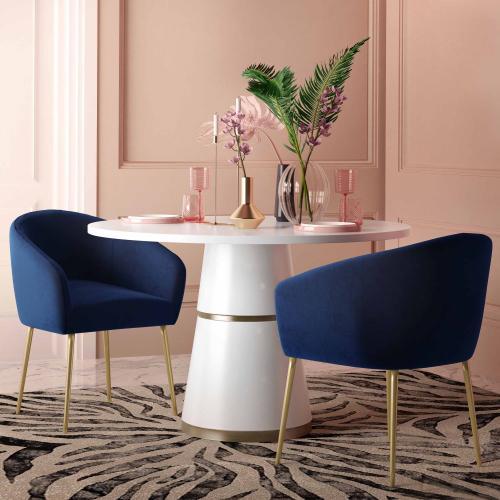 Tov Furniture - Arya Performance Velvet Navy Dining Chair