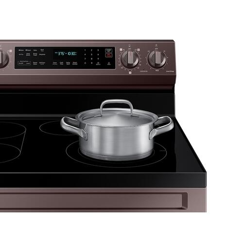 Product Image - 6.3 cu. ft. Smart Freestanding Electric Range with No-Preheat Air Fry, Convection+ & Griddle in Tuscan Stainless Steel