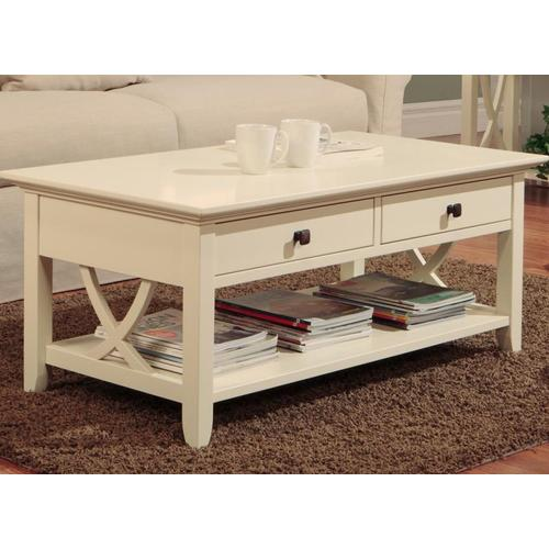 - Florence Coffee Table With 2 Drawers and Shelf