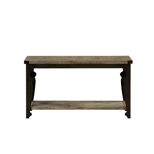 Emerald Home Valencia Sofa Table-natural Reclaimed Pine Finish With Black Metal Legs T559-02