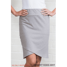 BE Crossover Grommet Skirt - White/XS (2 pc. ppk.)