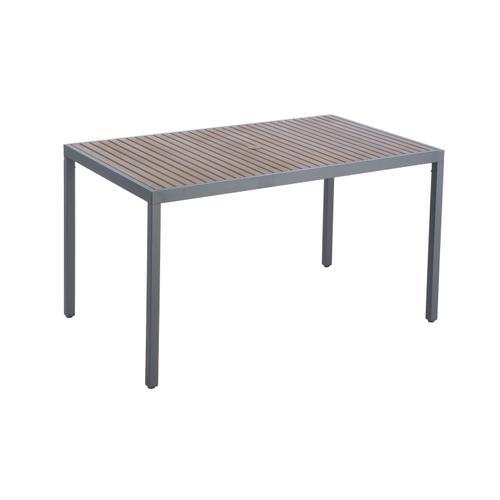 "Oden 59"" Rect. Alum/Polywood Gathering Table w/ umbrella hole"