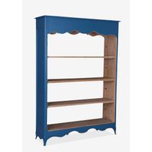 See Details - (LS) La Salle Open Bookcase (wide) (49x16x70)-Blue bretagne
