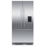 "Integrated French Door Refrigerator Freezer, 36"", Ice & Water"