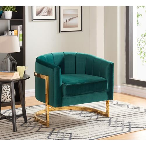 "Carter Velvet Accent Chair - 30"" W x 29"" D x 30"" H"
