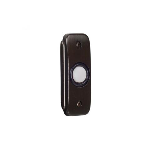 Stepped Rectangle Lighted Push Button in Bronze