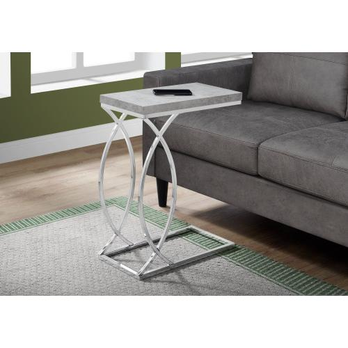 Gallery - ACCENT TABLE - GREY CEMENT WITH CHROME METAL