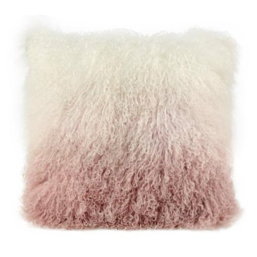 Product Image - Tibetan Sheep Pillow White to Blush