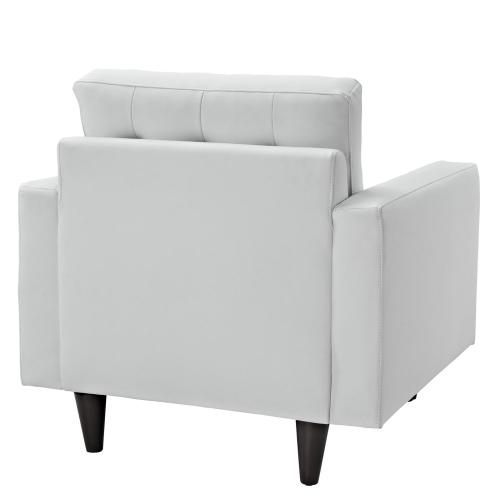 Modway - Empress Armchair Leather Set of 2 in White