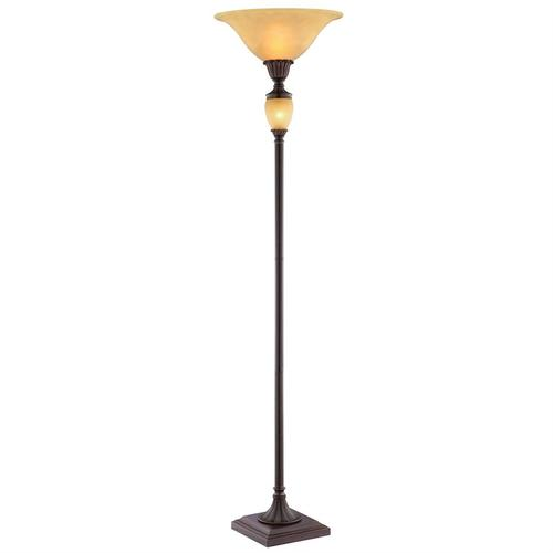 Gallery - Tate Torchiere Floor Lamp With Amber Night Light