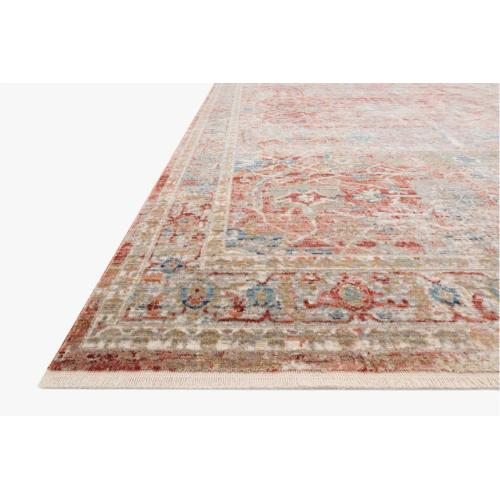 CLE-01 Red / Ivory Rug