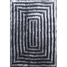 Soft Three Dimensional Polyester Viscose Hand Tufted 3D 305 Shag Area Rug by Rug Factory Plus - 2' x 3' / Gray