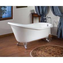 ROLL RIM SLIPPER Cast Iron Clawfoot Bath