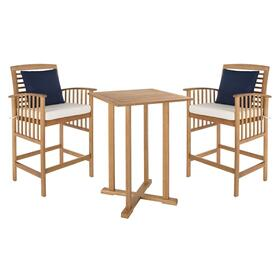 Pate 3-pc Bar 39.8 Inch H Table Bistro Set - Natural / White