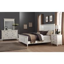 Regitina 016 White Bedroom Furniture Set QUEEN & KING Bed Dresser Mirror Nightstand, King