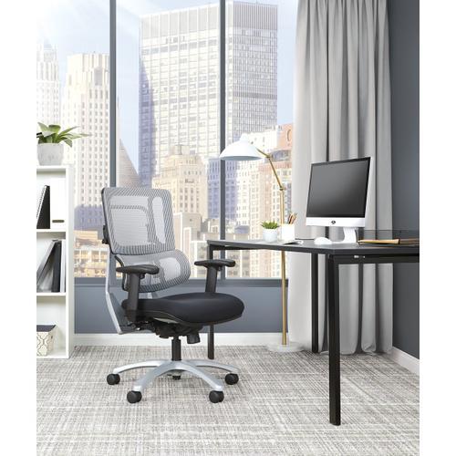 Vertical Grey Mesh Back Chair