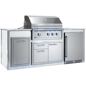 "Xo AppliancesAppliance Ready Pre-Assembled 36"" Designer Island White"