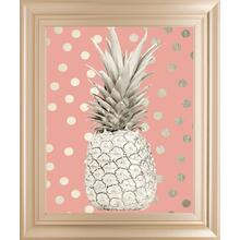 White Gold Pineapple On Polka Dots Pink By Nature Magick