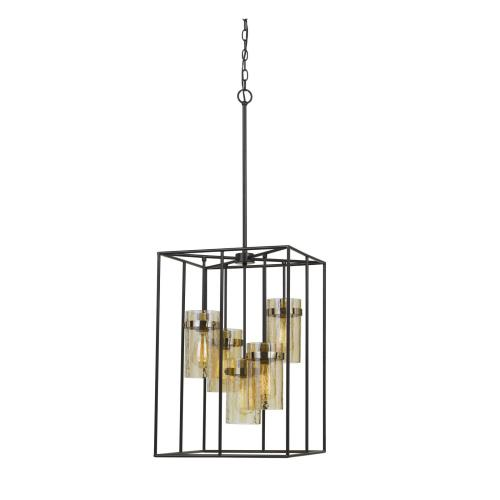 Cal Lighting & Accessories - 60W X 5 Cremona Glass Pendant Fixture (Edison Bulbs Not included)