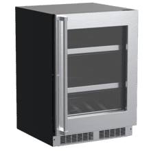 See Details - 24-In Professional Built-In Beverage Center With Reversible Hinge with Door Style - Stainless Steel Frame Glass