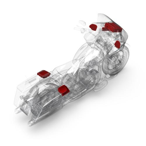 Rockford Fosgate - 1998-2013 Harley-Davidson® Road Glide® Source Unit, 4-Speaker & Amp Kit