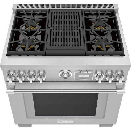 Gas Professional Range 36'' Pro Grand® Commercial Depth Stainless Steel PRG364WLG