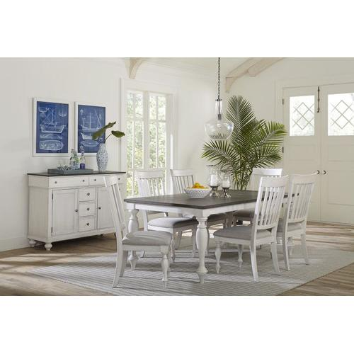 Standard Furniture - Grand Bay Rectangular Dining Table with 18' Leaf, Two Tone Finish