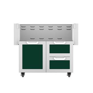 """36"""" Hestan Outdoor Tower Cart with Door/Drawer Combo - GCR Series - Grove"""