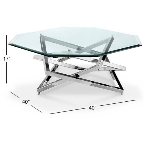Octoganal cocktail Table