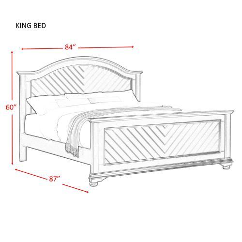 Brookpine White King Panel Bed