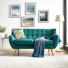 See Details - Remark Upholstered Fabric Loveseat in Teal