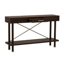 Light Brown Bamboo Console Table