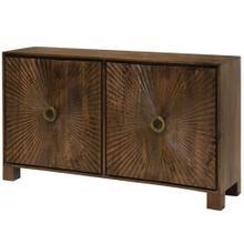 Starburst Embossed 4 Door Cabinet made of Solid Mango Wood