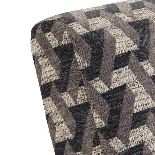 Wood Frame Accent Chair in Prism Flannel