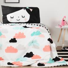 Dreamit - Night Garden Comforter and Pillowcase, Black and White, Twin