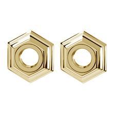 Product Image - Nicole Grab Bar Brackets A7724 - Polished Brass