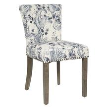 Kendal Dining Chair In Paisley Charcoal