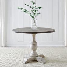 See Details - Drop Leaf Single Pedestal Top