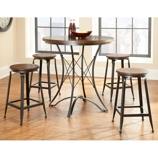 Adele 5 Piece Counter Set (Counter Table & 4 Counter Stools)