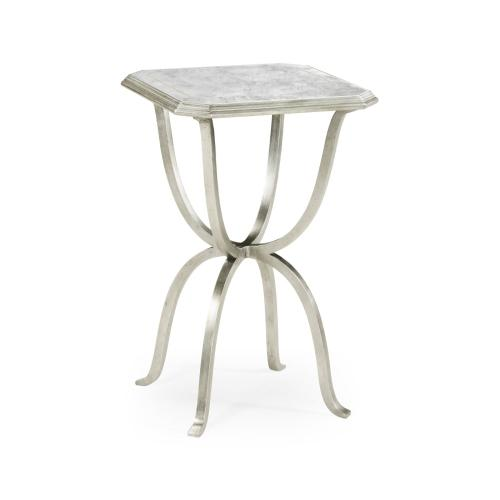 glomise & Silver Iron Octagonal Side Table