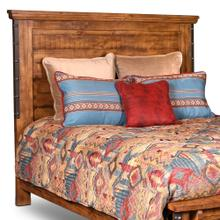 See Details - Rustic City King Size Headboard w/ Metal Accents