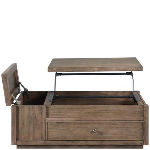 Riverside - Denali - Lift-top Coffee Table - Toasted Acacia Finish