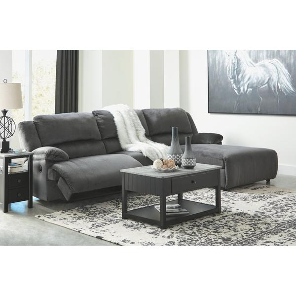 See Details - Clonmel 3-piece Reclining Sectional With Chaise