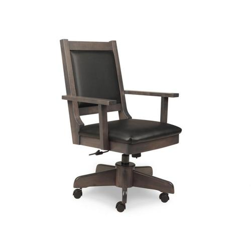 Handstone - Modern Office Chair with Gas Lift, Tilt, Swivel Base, in Fabric or Bonded Leather