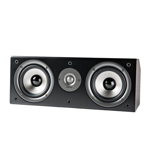 "Center Channel with two 5.25"" drivers and one 1"" tweeter in Black"