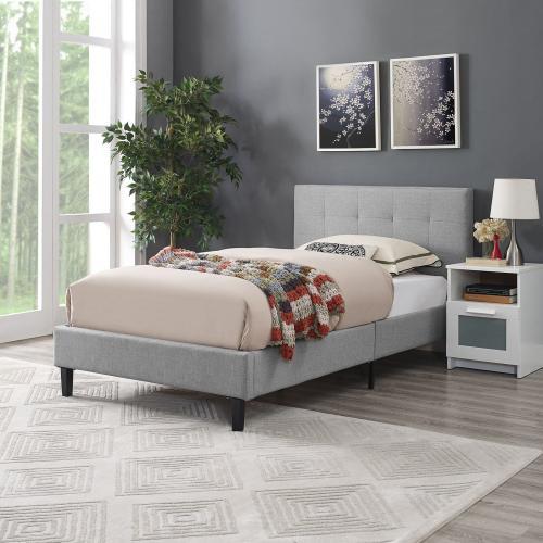 Linnea Twin Bed in Light Gray