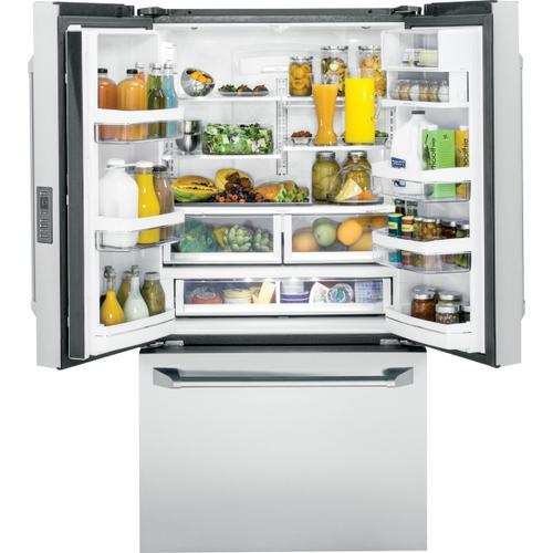 Monogram - Monogram ENERGY STAR® 23.1 Cu. Ft. Counter-Depth French-Door Refrigerator- Open Box
