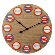 Beer Bottle Cap Wall Clock