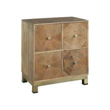 Drawer Chest with Carved Octagon Pattern